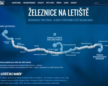 Spustili jsme web o železnici na letiště